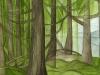 Mountains Running Thru Forest